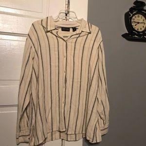 Woman's New York & Company Button Down Shirt.